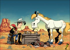 Lucky Luke by Aberu-Chan