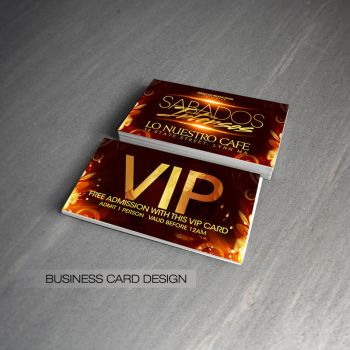 Sabados Intensos VIP cards by DeityDesignz