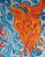 fire and water by Aoxomoxoa9