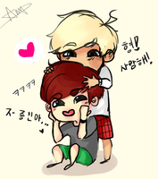 Hyung!!!! by Amputating