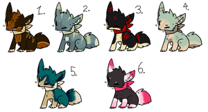 CLOSED Point Song themed adoptables. by Anni-Adoptables