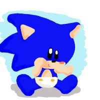 chibi baby sonic :3 by LeniProduction