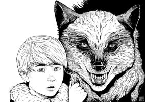 Rickon and Shaggydog by k0niczyna