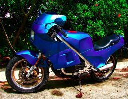 Blue Motorcycle by xandra14