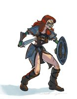 Aela The Huntress by bangalore-monkey