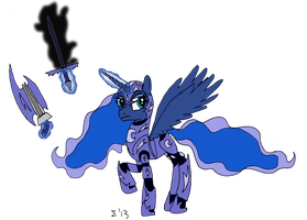 MLP:FiM - Princess Luna in armour by SigmatheArtist