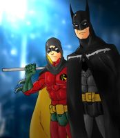 Batman and Robin by Mawnbak