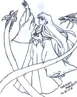 Kikyo with Soul Catchers by dokikittyproductions