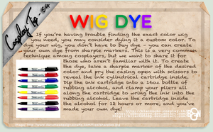 Cosplay Tip 54 - Wig Dye by Bllacksheep