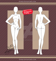 Clothes Model Front and Back Female (1). by Efyme