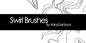 Swirl Brushes by RainyDoll-Stock