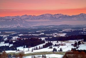 First snow in the Alps by mutrus