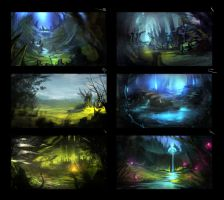 color comps for the feywild vista by 2blind2draw