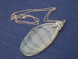 wirework agate by Autumn-beads