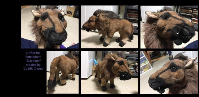 Drifter the Entelodont Plush from Cuddle Clones by pookyhorse