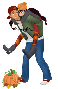Halloween | JiMel as T.J. and Spinelli by Ribon95