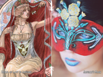 Lady of January Painting and Mask Set by Angelic-Artisan
