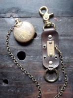 Leather fob and watch 2 by missmonster