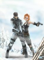 Solid_Snake_And_Meryl by hyperbooster