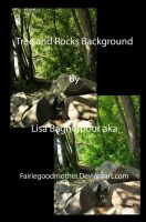 Rocks and Tree Background by FairieGoodMother