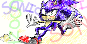 Sketchy Drawing Of Sonic by Sonjamsn40