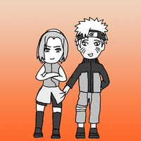 Chibi Couples: NaruSaku by CrystalLynnblud