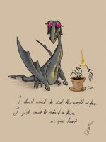 Dragon Severus and Lily by MariSkullerud