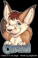 Badge - Caracal by foxyfennec