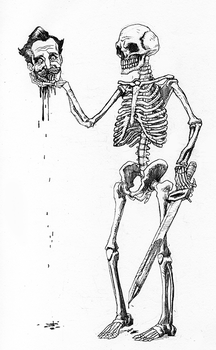 Drawlloween Day 30 Skulls and Skeletons by jokoso