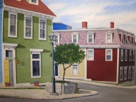 newfoundland watercolor by kenpower