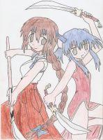 Suzu and Ayane by HeartlessHollow07