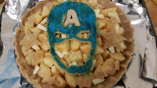 Captain America Pie for Pi Day by zaythar