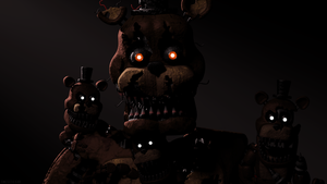 Nightmare Freddy and Freddle (SFM FNAF) by TheSitciXD