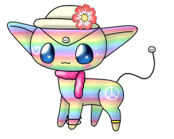 Rainbow Pockit Adopt (open) by ForeverFluffyAdopts