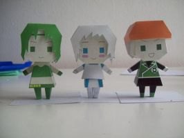 Paperdolls Bea, Tora and Guy by Rabenstolz