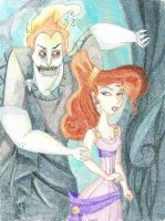 Hades and Meg by Kelly-ART