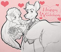 GMD-OC-Sketch: Happy Wedding !! (Completed) by doraemonbasil