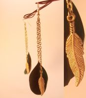Feather earrings by pushis33