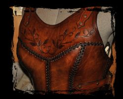 cuirass leather armor close up by Lagueuse