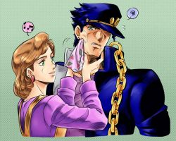 Holly and Jotaro - JJBA by maiyeng
