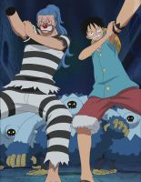 Impel Down: The Odd Couple by polutropon