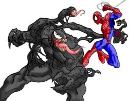 spider-man vs. venom by mcgarry1
