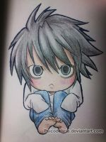 Chibi L (Death Note) by PsicoDelicia
