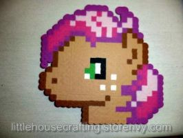 Babs Seed Headshot Perler (My Little Pony) by LittleHouseCrafting