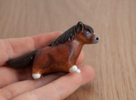 Horse polymer clay figurine by lifedancecreations