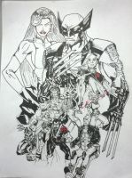 Days of future past Forground INKED by magnumpeanut