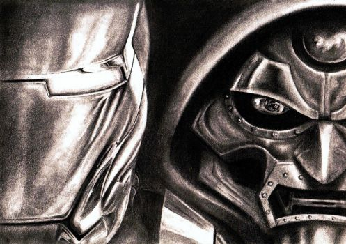 Ironman vs Dr Doom!!! by MARX-MAN