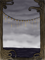 Trees Overlooking the Ocean by CarrieExMachina