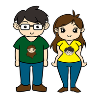 couple shirt by aquietfrog