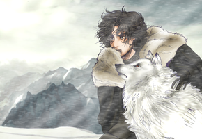 Jon Snow (anime version) by AcchanChangmin